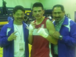 Jose with godfathertrainer Armando Mancinas and Jose dad